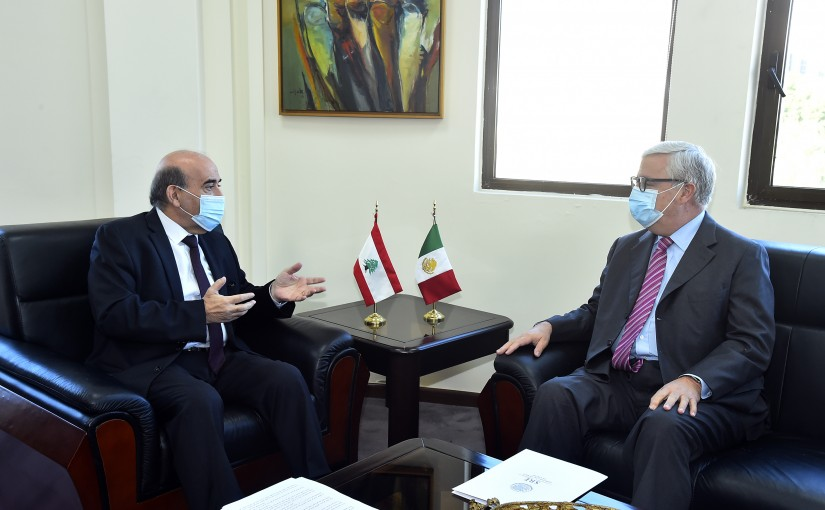 Minister Charbel Wehbeh meets Mexican Ambassador