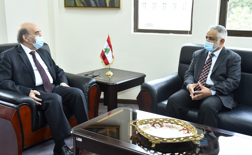 Minister Charbel Wehbeh meets Mr Hamad Hamami
