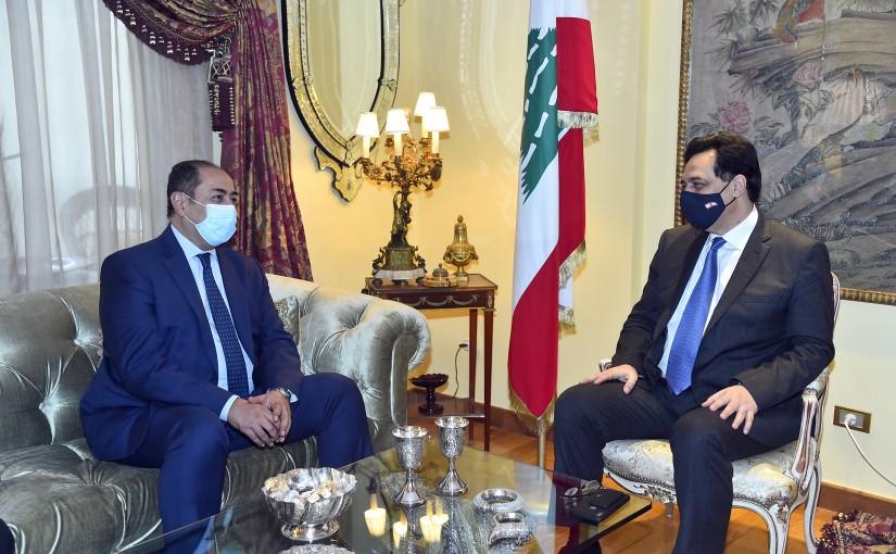 Pr Minister Hassan Diab meets Ambassador Houssam Zaki