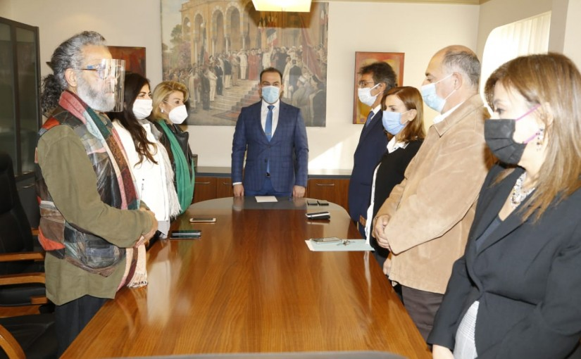 Minister Abass Mourtada meets a Delegation from Consevatoire