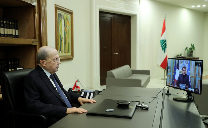 President Michel Aoun Attends the Support Lebanon Conference