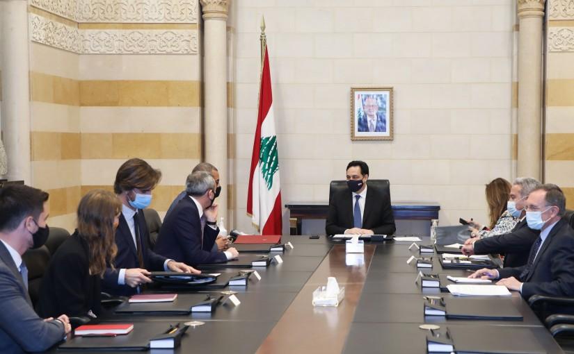 Pr Minister Hassan Diab meets a British Delegation
