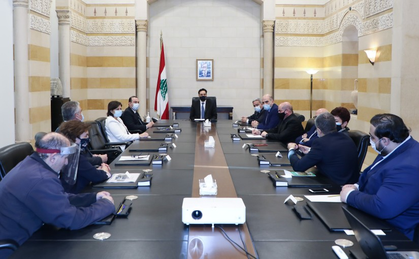 Pr Minister Hassan Diab meets a Delegation from Ministry of Agriculture