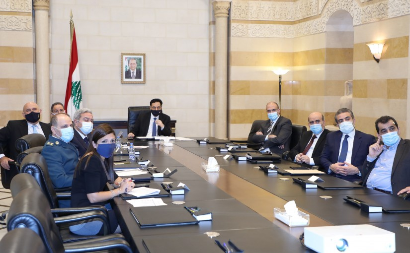 Pr Minister Hassan Diab meets a Delegation from Coronavirus Committee