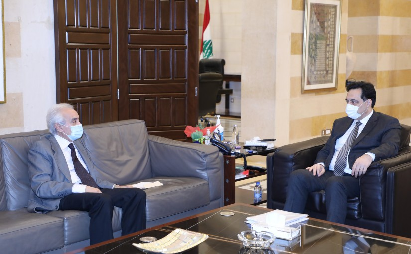 Pr Minister Hassan Diab meets Mr Bassam el Kaissi