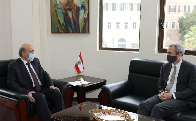 Minister Charbel Wehbeh meets British Ambassador