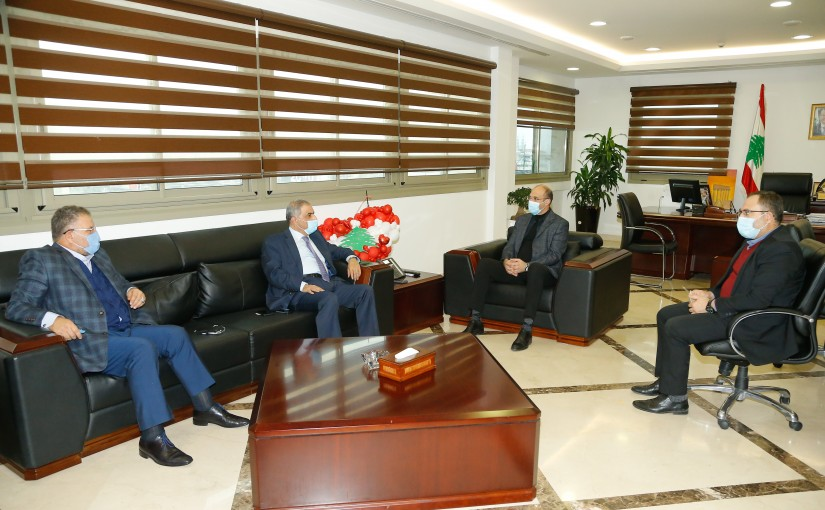 Minister Hassan Hamad meets MP Ali Fayad with a Delegation