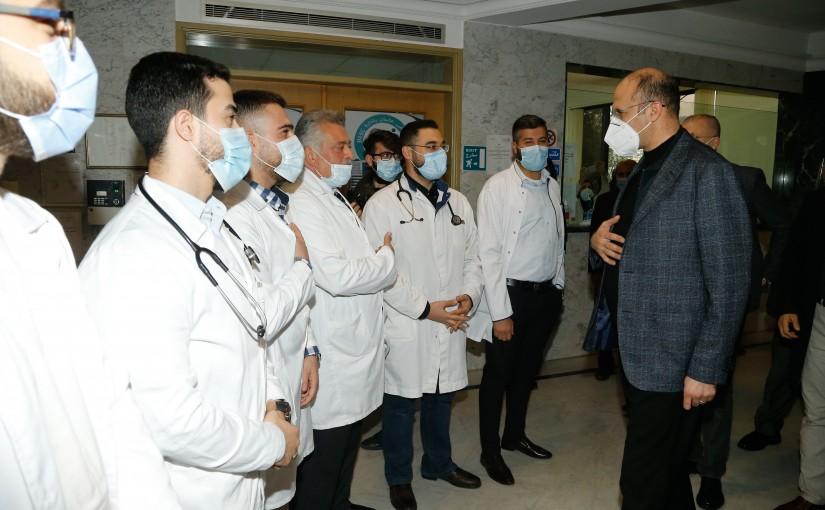 Minister Hassan Hamad Visits Ketermeya Hospital