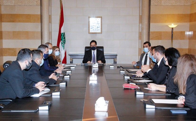 Pr Minister Hassan Diab meets a Delegation from Lebanese Press