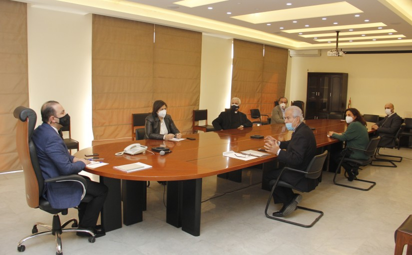Minister Abass Mourtada meets a Delegation from Union of mutual funds