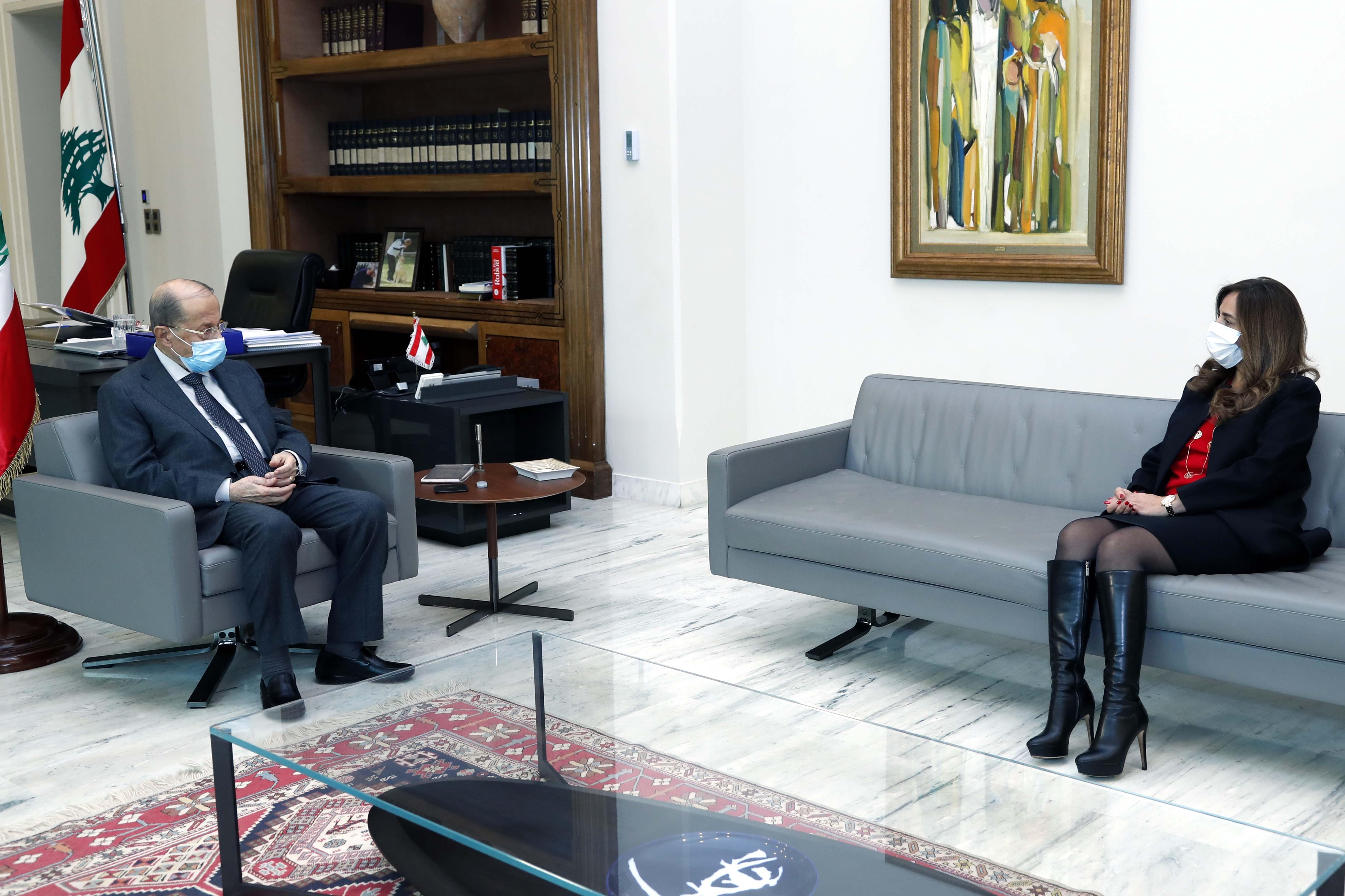 1 - Minister of Defense and Deputy Prime Minister Zeina Akar