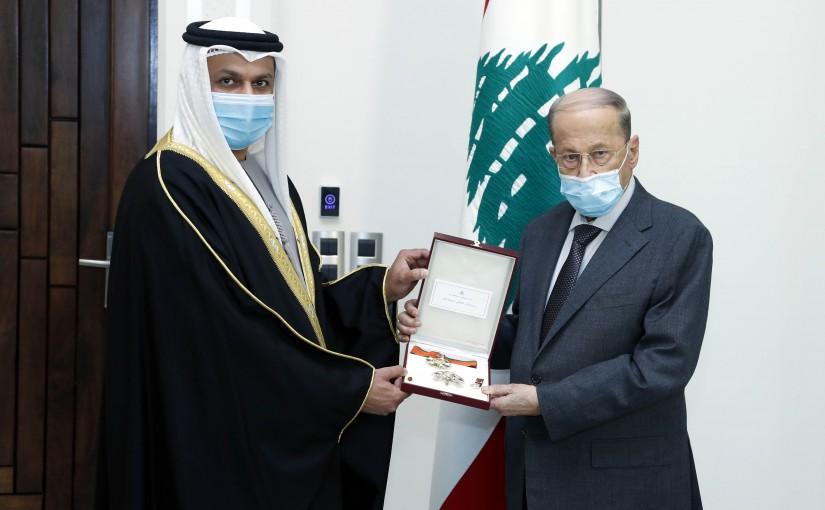 President Michel Aoun meets United Arab Emirates Ambassador to Lebanon, Dr. Hamad Saeed Al-Shamsi.