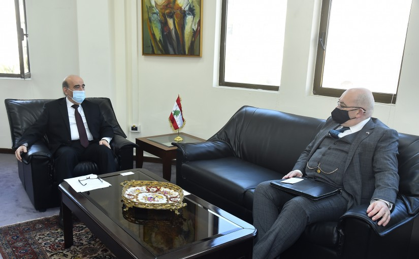 Minister Charbel Wehbeh meets British Charges D affairs