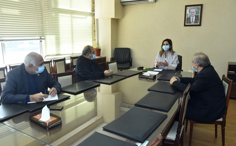 Minister Manal Abdel Samad meets a Delegation from Lebanese Press Order