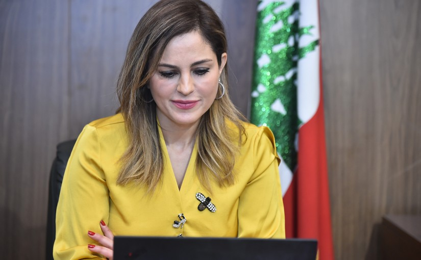 A virtual meeting with the Minister  Manal Abdel Samad