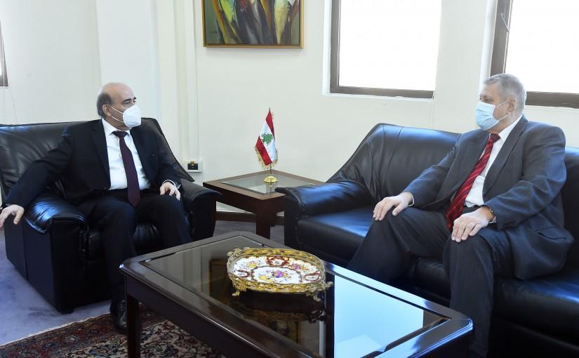 Minister Charbel Wehbeh meets Mr Yan Koubish