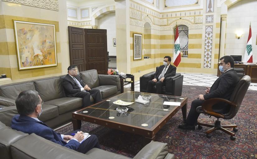 Pr Minister Hassan Diab meets Egyptian Ambassador