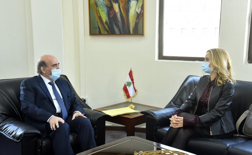 Minister Charbel Wehbeh meets Swiss Ambassador