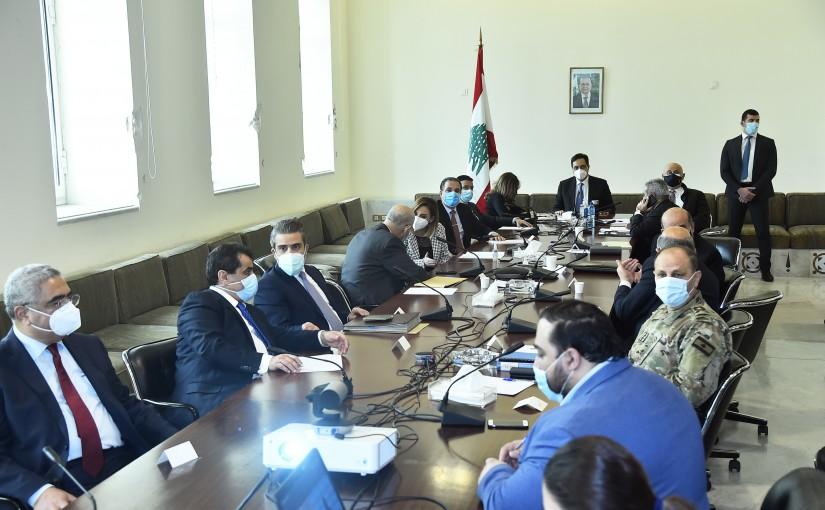 Pr Minister Hassan Diab Heading a Coronavirus Committee