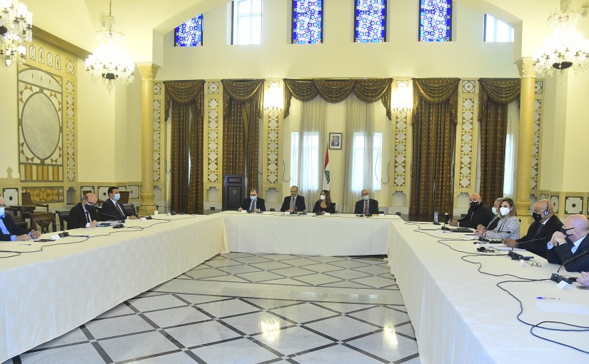 Minister Hassan Hamad Heading a Scientific Committee at the Grand Serail