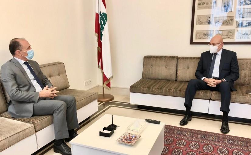 Former Pr Minister Tammam Salam meets Tunisian Ambassador