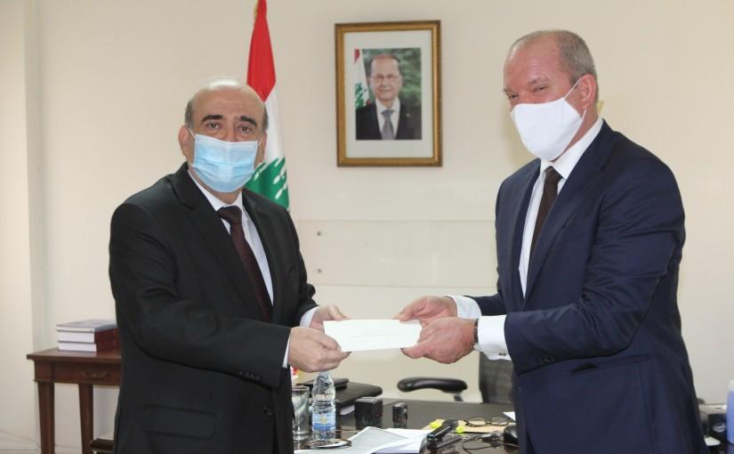 Minister Charbel Wehbeh meets Holland Ambassador