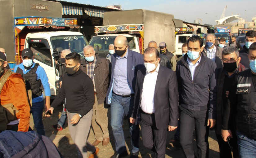 Tour by the Minister Abbas Mortada on the Beirut wholesale vegetable market
