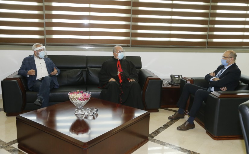 Minister Hassan Hamad meets MP Antoine Habchi