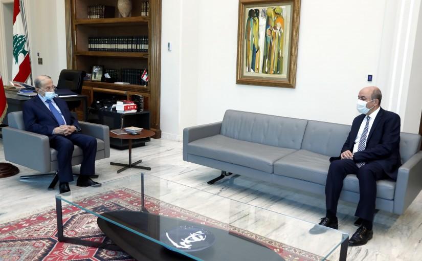 President Michel Aoun meets Ambassador Hakan Cakıl.