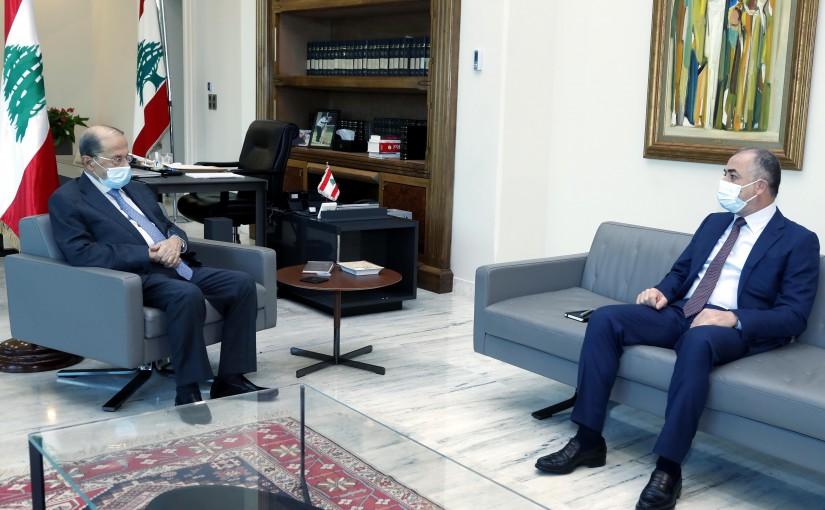 President Michel Aoun meets MP Elias Bou Saab.