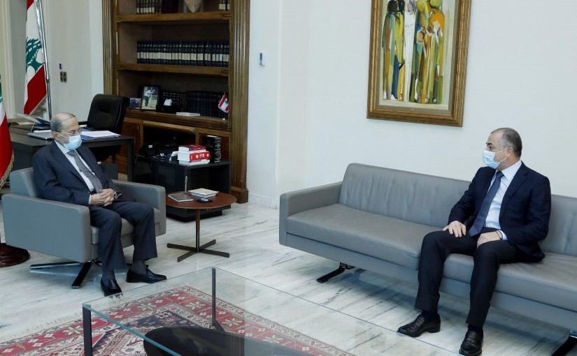 President Michel Aoun meets MP Elias Bou Saab.