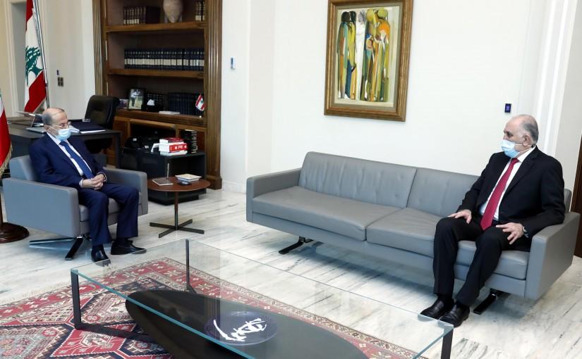 President Michel Aoun meets Minister Mohammed Fahmi.
