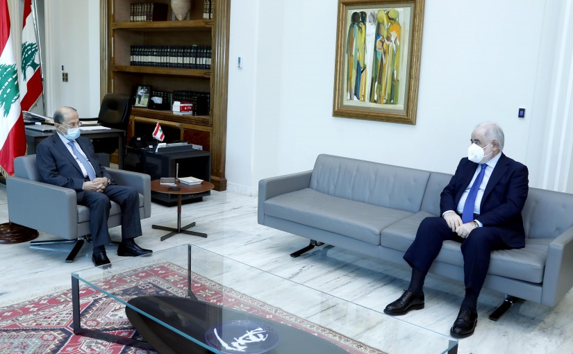 President Michel Aoun meets Former MP Amal Abou Zeid.