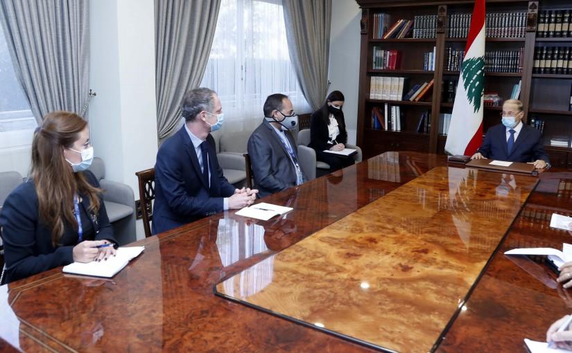 President Michel Aoun meets Mr. Fawzi Al- Zyoud.