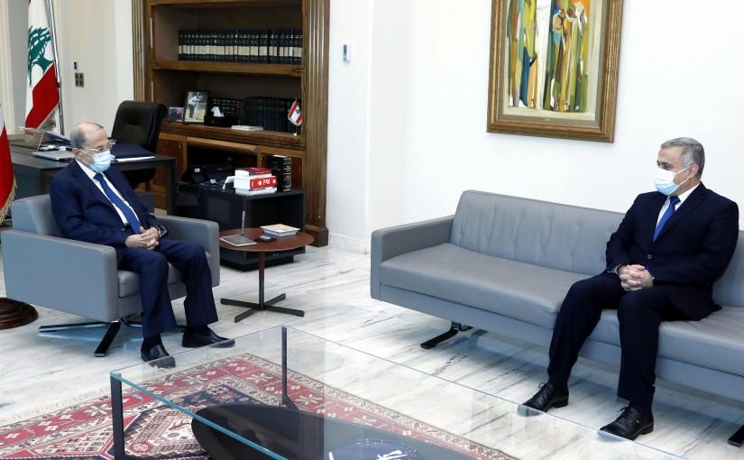 President Michel Aoun meets MP Edgard Traboulsi.