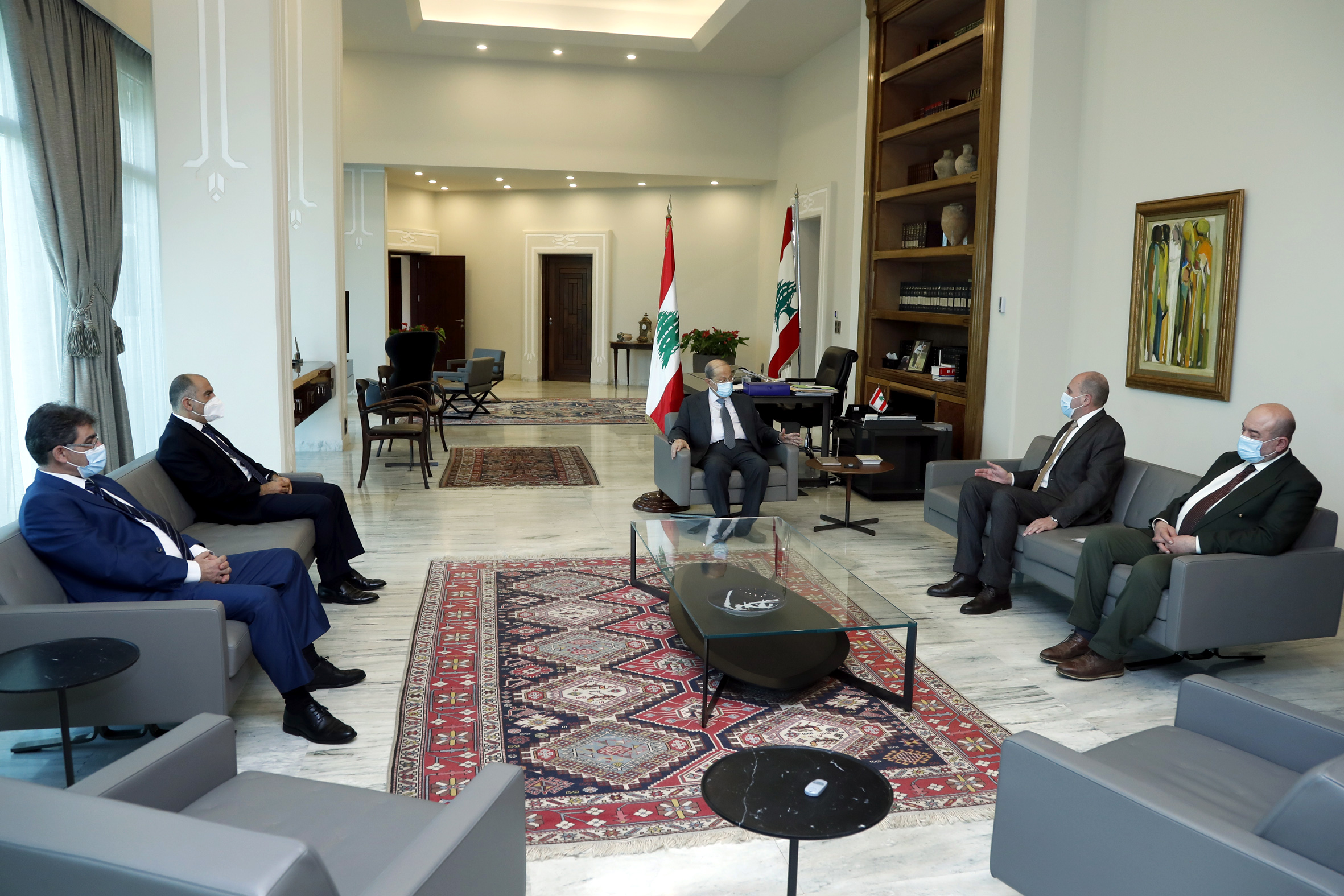 1 - MP Salim Aoun with a Delegation