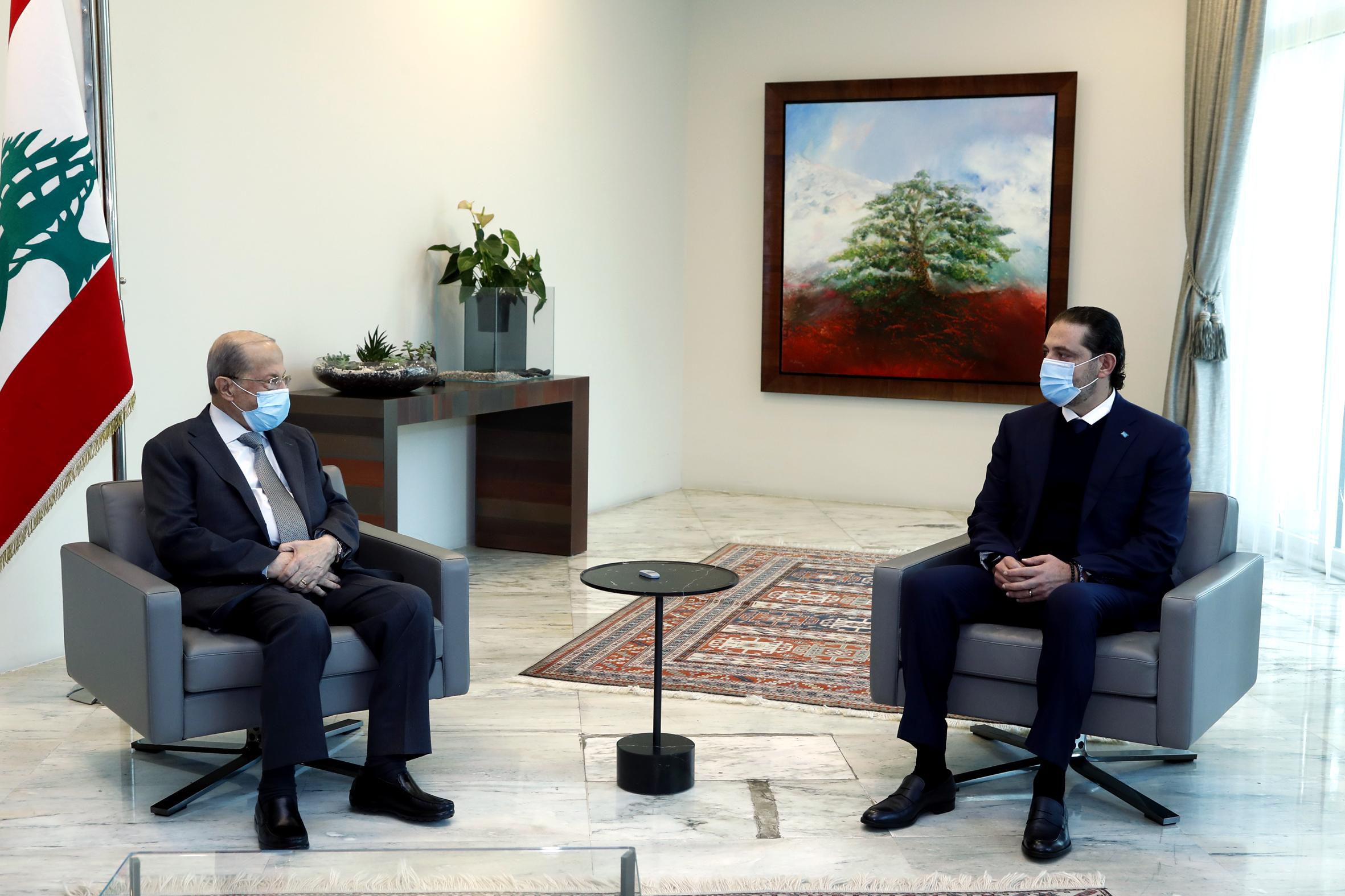 2 - President Michel Aoun meets Designated PM Saad Hariri