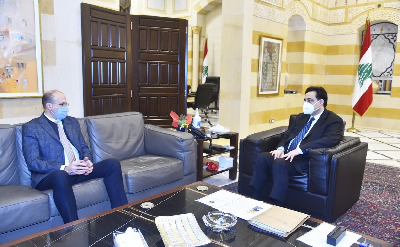 Pr Minister Hassan Diab meets Minister Hassan Hamad