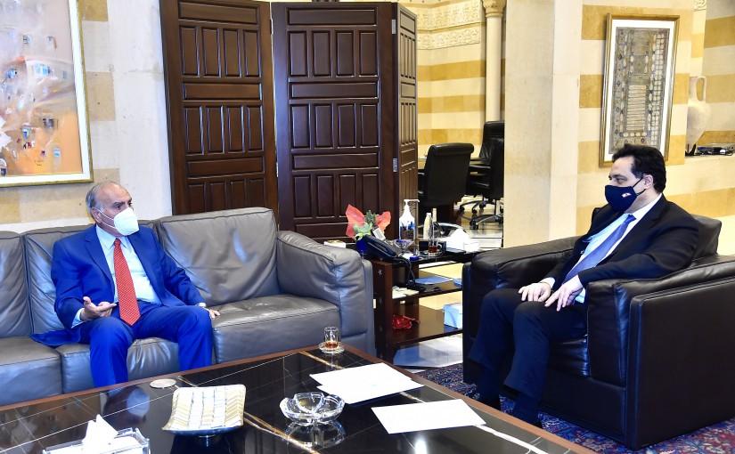 Pr Minister Hassan Diab meets Former MP Emile Rahme
