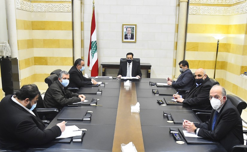 Pr Minister Hassan Diab meets a Delegation from Lebanese University Teachers