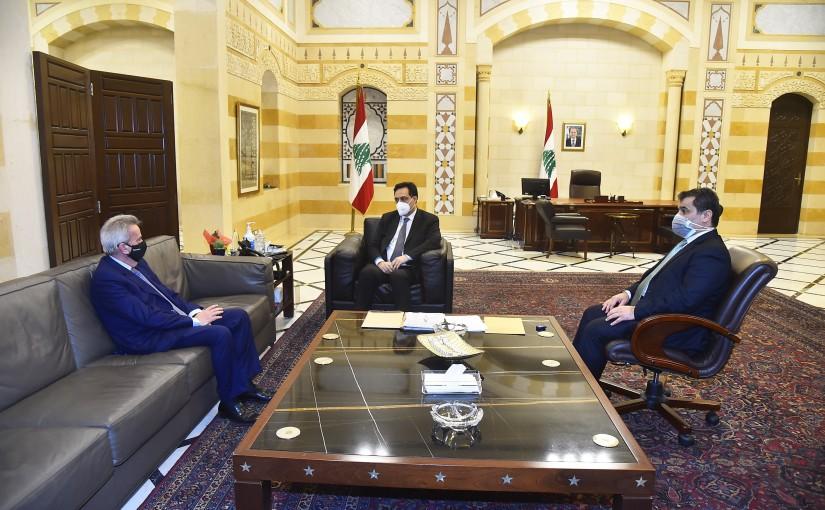 Pr Minister Hassan Diab meets Mr Riad Salameh