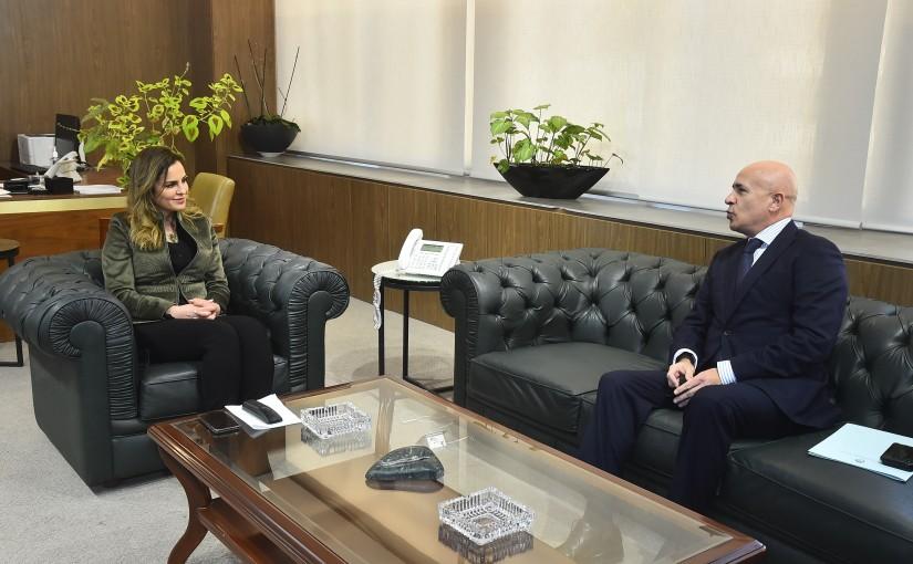 Minister Manal Abdel Samad meets Argentine Ambassador