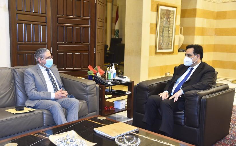 Pr Minister Hassan Diab meets Mr Fouad Ayoud