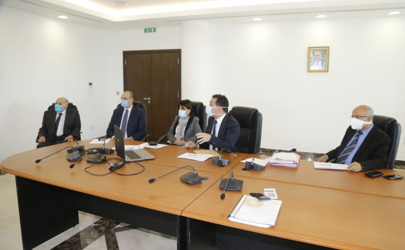 Minister Hassan Hamad Heading a meeting for Corona Vaccine