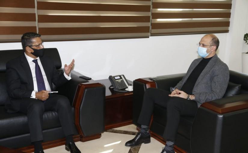 Minister Hassan Hamad meets Bangladesh Ambassador