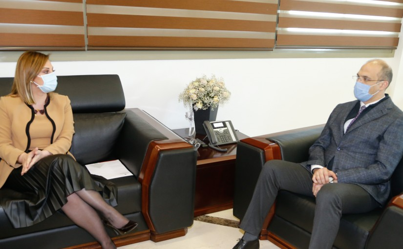 Minister Hassan Hamad meets Minister of Youth & Sports