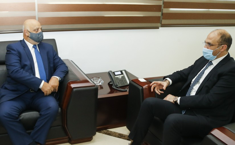 Minister Hassan Hamad meets Colombia Ambassador