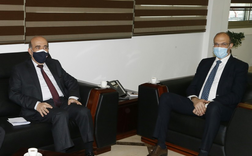 Minister Hassan Hamad meets Minister Charbel Wehbeh