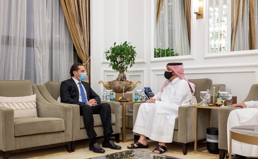Pr Minister Saad Hariri meets Qatar Pr Minister