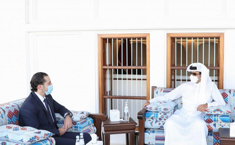 Pr Minister Saad Hariri meets Qatar Prince